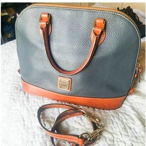 Dooney & Bourke leather zip zip satchel purse